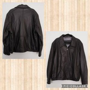 Genuine Leather Plus Jacket Plus Size 3x